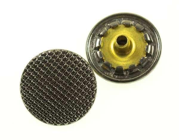 Druckknöpfe Facetten Optik silber NK-118-Stahl