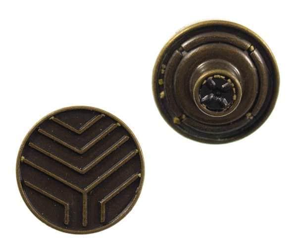 Jeansknöpfe Streifen Ornament nj-61-altmessing