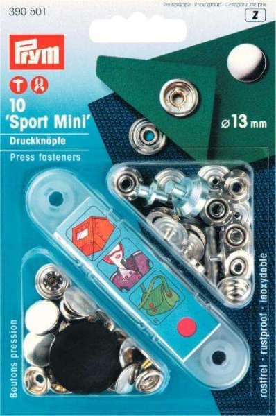 Druckknöpfe Sport mini silber 13mm