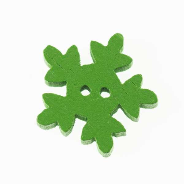 Knöpfe Schneeflocke HK-35-grün