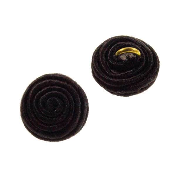 Posamenten Knöpfe aus Sutasch Bändchen pos-1-schwarz