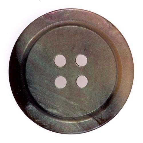Knöpfe Perlmuttschein mit Zierrand braun KBR-17