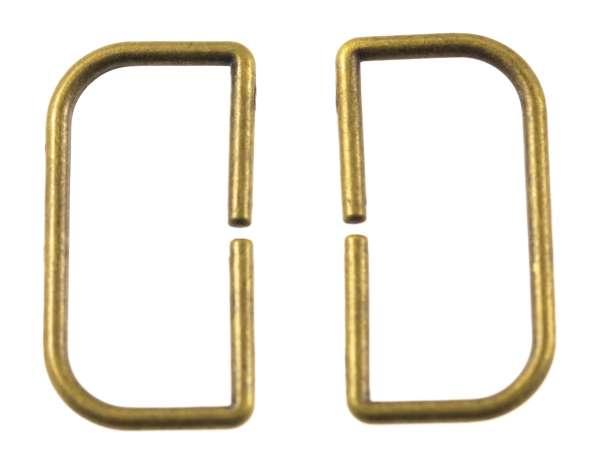D - Ringe aus Metall altgold für Taschen und Gürtel