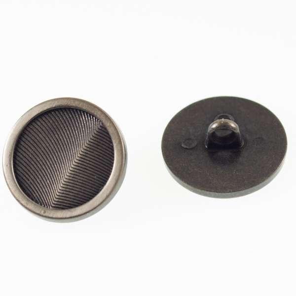 Schwarze Knöpfe 2 Farbig Mk-86 silber-schwarz