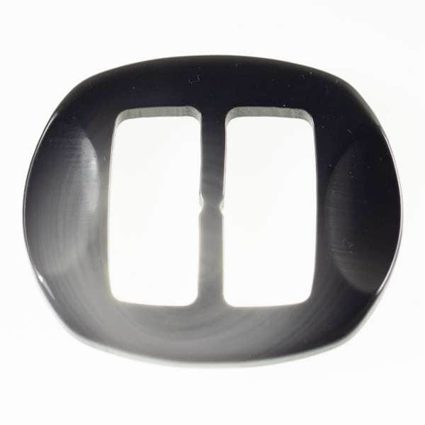 Gürtelschnallen kaufen! Hornimitat Schnallen s-hi-10-schwarz-grau