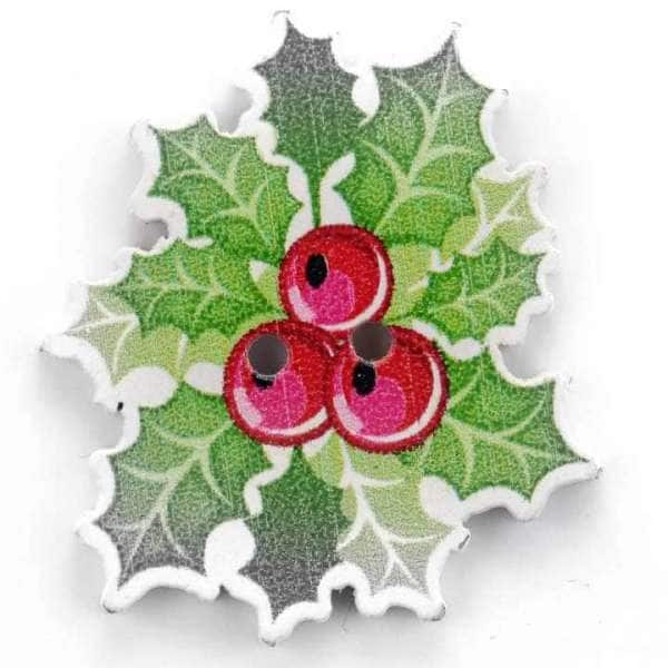 Weihnachtsknöpfe Lorbeer Gesteck