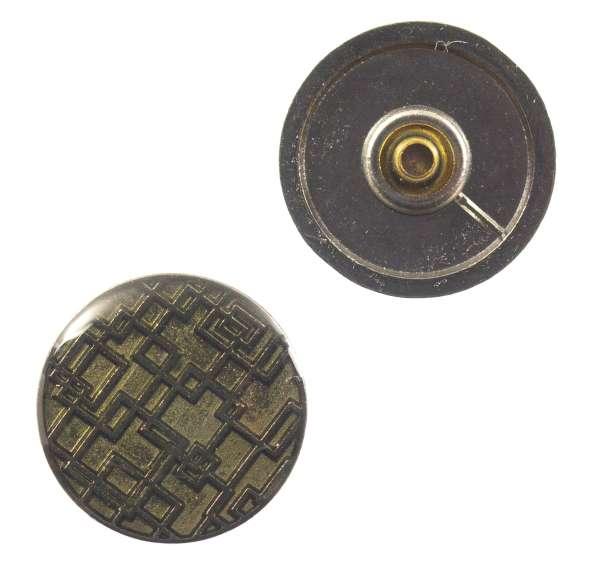 Druckknöpfe Quadratmuster NK-107-stahl-lack