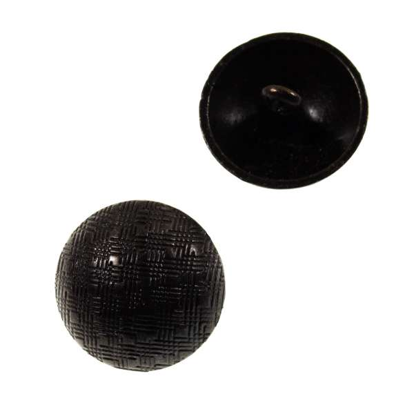 Halbkugel Metallknöpfe mit Korbmuster mk-77-schwarz-kupfer