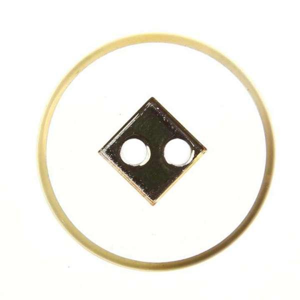 Knopf-2-Loch transp.-gold