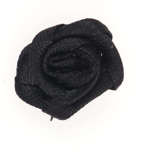 Applikation Rose schwarz