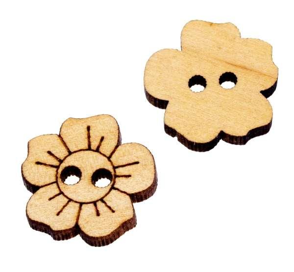 Holzknöpfe Blumen HK-3