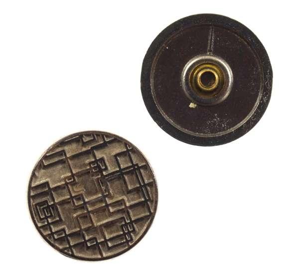 Druckknöpfe Quadratmuster NK-107-inox-antik