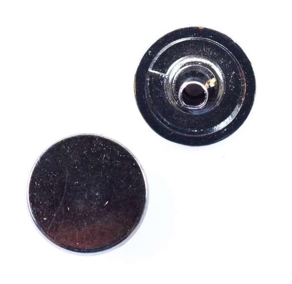 Druckknöpfe schlicht flach nk-103-stahl