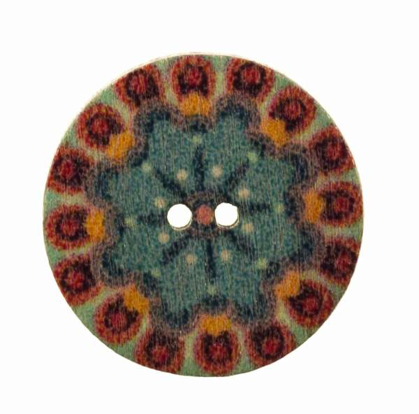 Holzknopf Mandala Muster hk-203-14