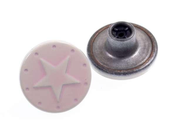 Jeansknöpfe Stern nj-11-rosa lack