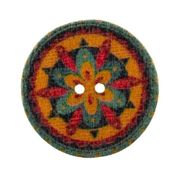 Holzknopf Mandala Muster hk-203-10