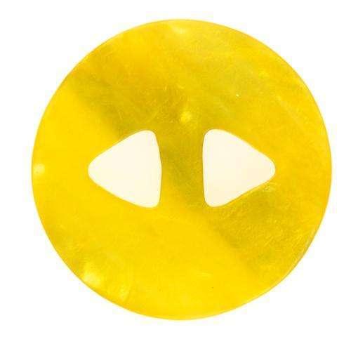 Knöpfe mit unebener Oberfläche gelb KGL-135