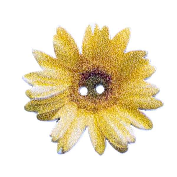 Holzknopf Blüten Muster hk-205-7