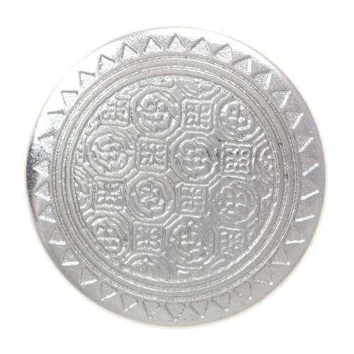 Metallknöpfe silber mit feiner Musterung MK-02529s