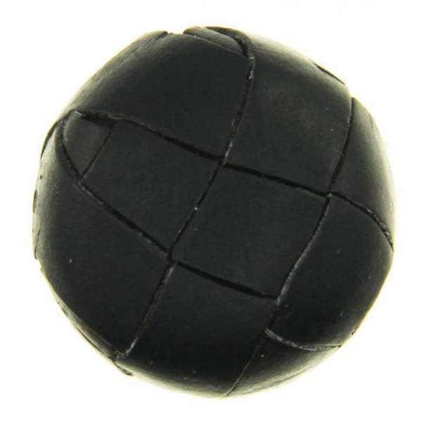 Leder Knöpfe LE-32 schwarz matt