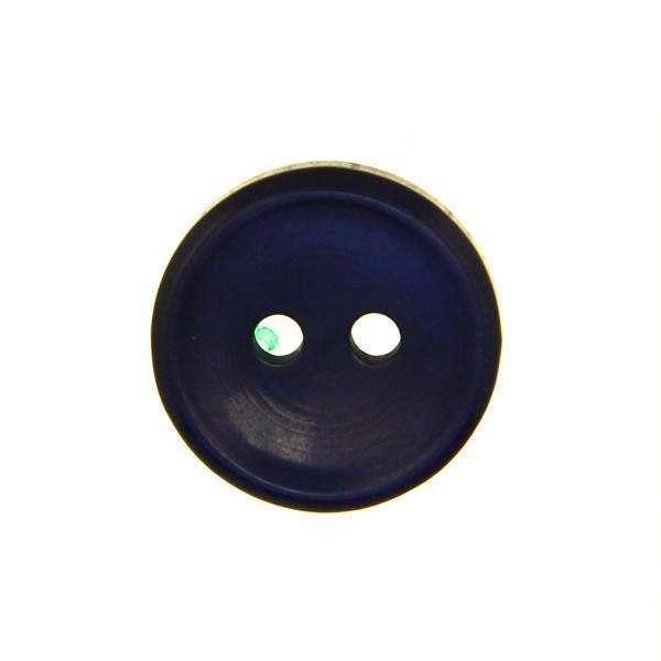 Blusenknopf blau mit Rand BL-62