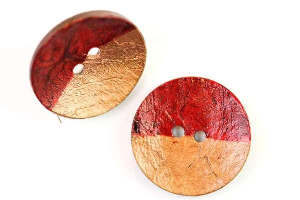 Kokos Knöpfe gefärbter HK-419 kupfer-rot