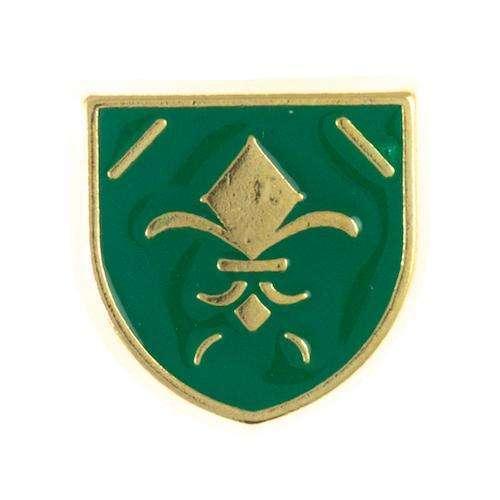 Niete Wappen gold grün