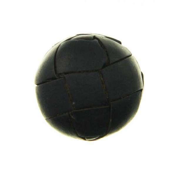 Leder Knöpfe LE-45 schwarz matt