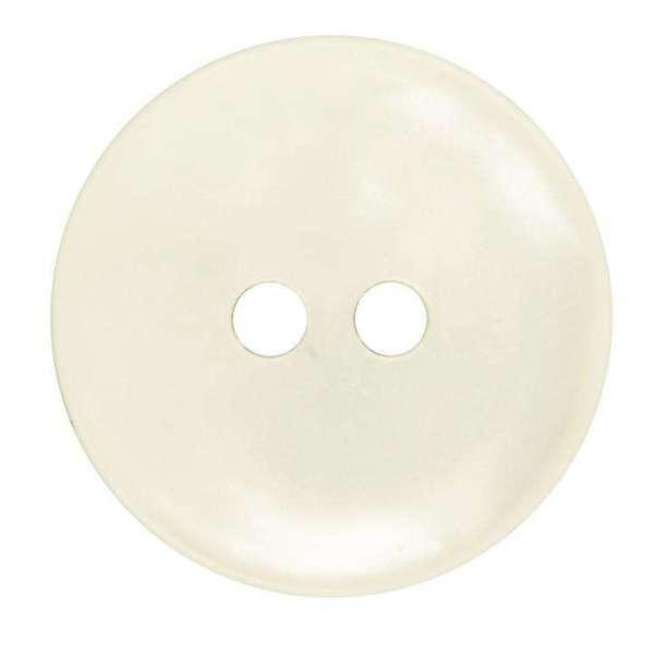Knöpfe aus Kunststoff Knopf 2-Loch Creme KN-28-A