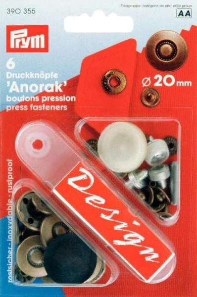 Druckknöpfe Anorak kupfer 20mm NKW-3ag-390355