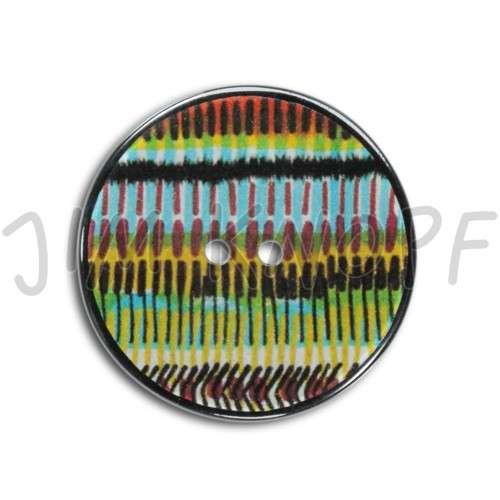 resin, pattern; 01 hell blauer Streifen