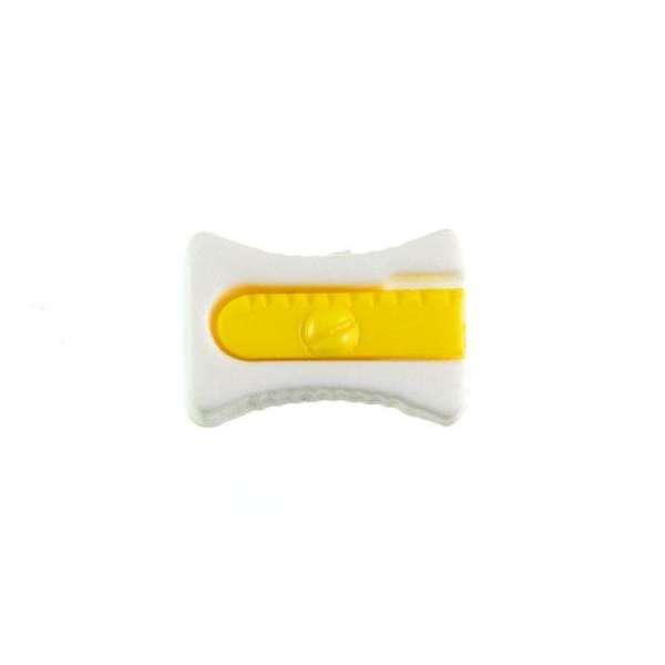 Kinderknöpfe kaufen Bleistiftspitzer-KK-152-weiss-1