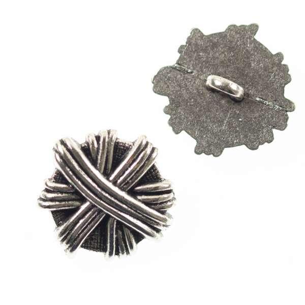 Metallknöpfe Knäuel mk-112-altsilber