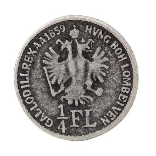 Münze Knöpfe 1/4 FL MK-466as