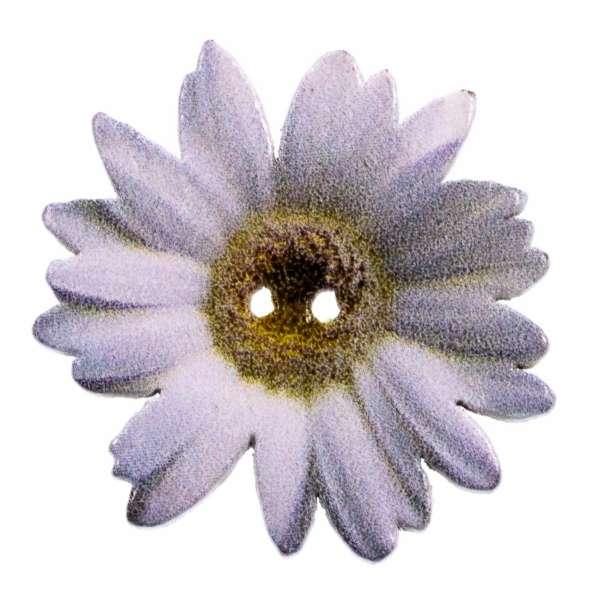 Holzknopf Blüten Muster hk-205-3