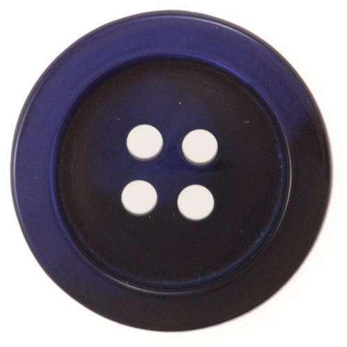 Knöpfe blau mit Rand Perlmuttschimmer KBL-62