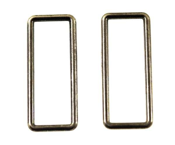 D - Rechteck Ringe aus Metall altsilber für Taschen und Gürtel