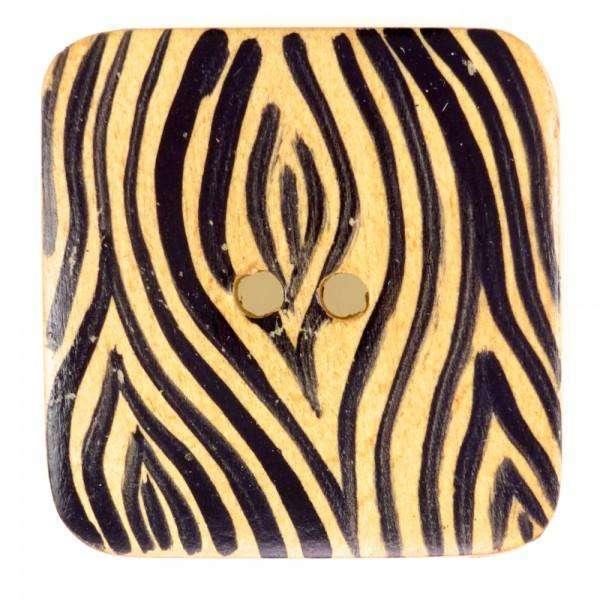 Holzknöpfe kaufen mit Zebramuster HK-199
