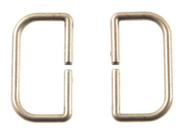 D - Ringe aus Metall gold für Taschen und Gürtel hri-2as