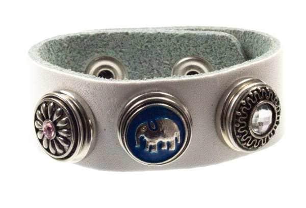 Armband weiß blauer elefant ch-02