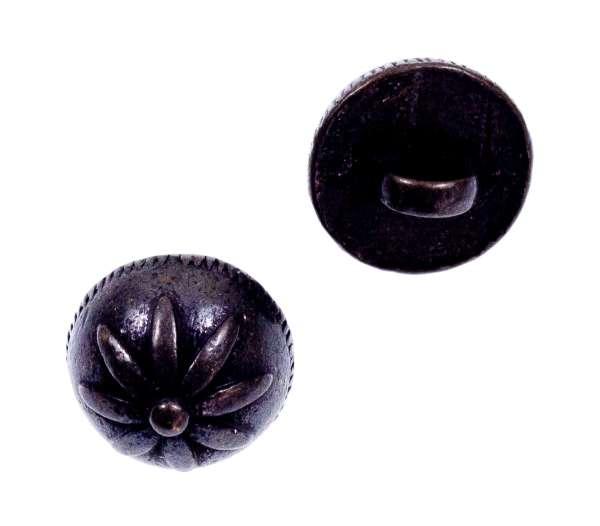 Trachtenknöpfe Blumen Muster tk-43-schwarz