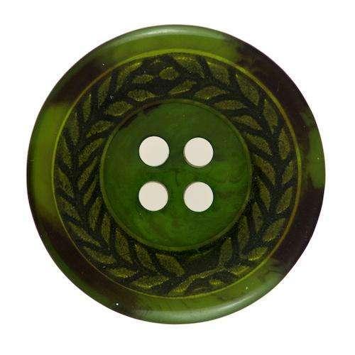Knöpfe mit Metalleinsatz grün KGR-68