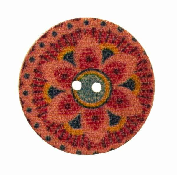 Holzknopf Mandala Muster hk-203-17