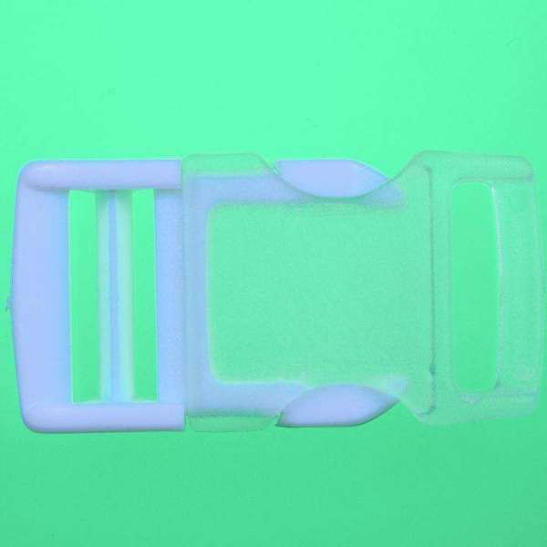 Patentschnalle Steckschliesse PS-6 weiß transp.