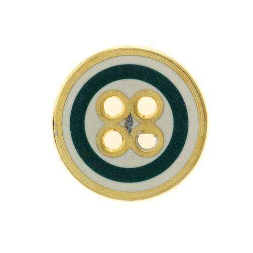 Knöpfe gold grün weiß MK-366g
