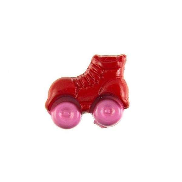 Kinderknöpfe kaufen Rollschuhe-KK-150-rot-3