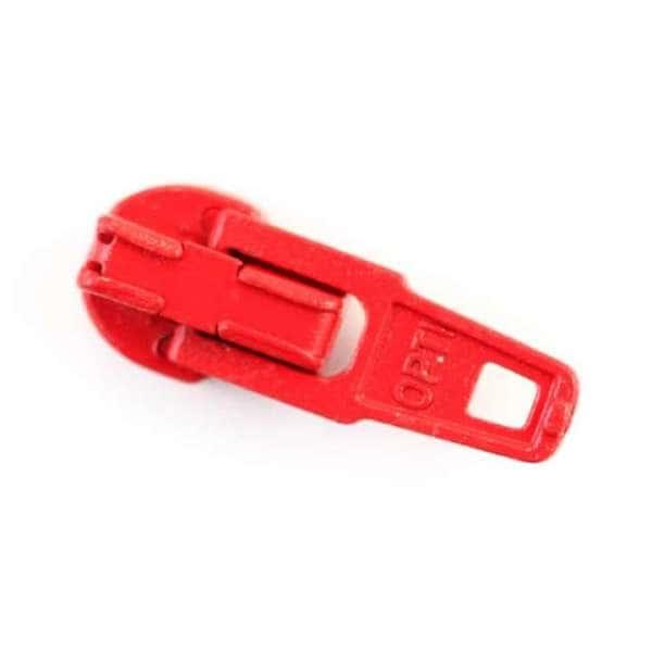 Reißverschluss Schieber rot