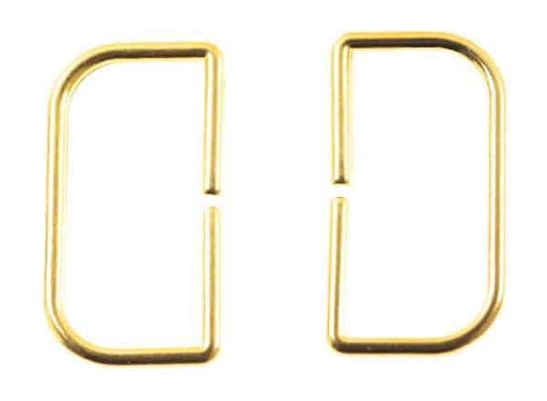 D - Ringe aus Metall gold für Taschen und Gürtel