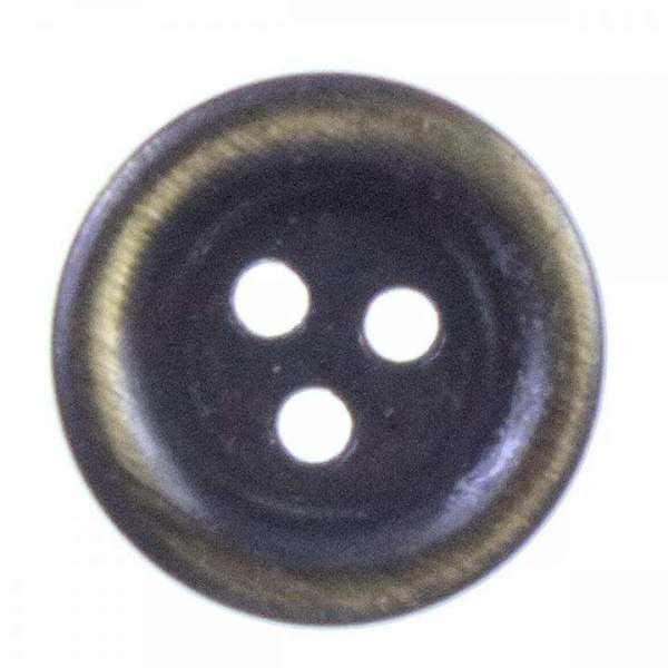 Metallknöpfe mit 3 löchern altgold MK-417ag