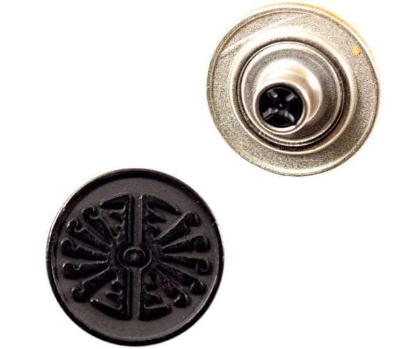 Jeansknöpfe Ethno Muster NJ-57-schwarzkupfer